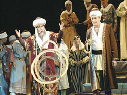 На сцене театра им. Навои, Ташкент